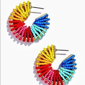 NWOT Giana Beaded Hoop Earrings